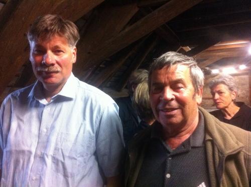 Der aktuelle Taubenvater, Markus Morand, und sein Vorgänger, Otto Marrer